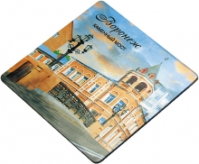 Магнитные визитки 500шт 5х5 см